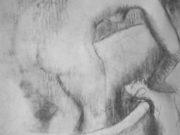 "Эдгар Дега (Edgar Degas), ""Обнаженная, моющаяся в ванне, вид со спины"" (Drawings)"