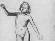 "Эдгар Дега (Edgar Degas), ""Этюд натурщика для трубящего ангела"" (Drawings)"