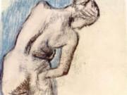 """Эдгар Дега (Edgar Degas), """"Обнаженная после ванны"""" (Drawings)"""