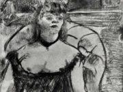 """Эдгар Дега (Edgar Degas), """"Проститутка в кресле"""" (Drawings)"""