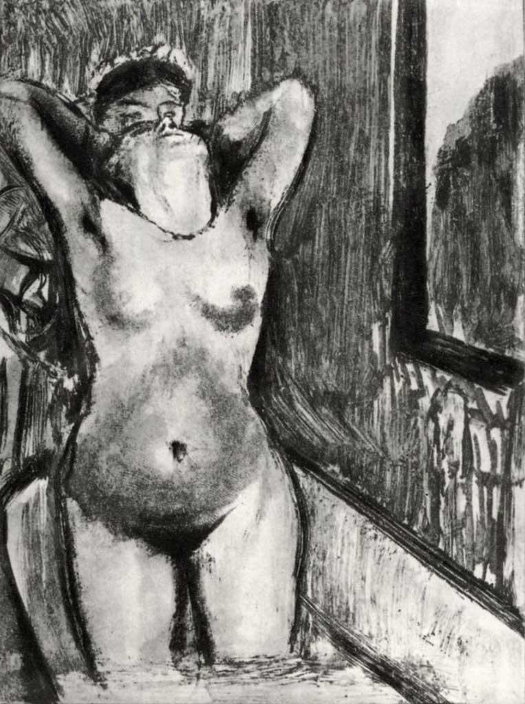 """Эдгар Дега (Edgar Degas), """"Стоящая в ванне"""" (Drawings)"""