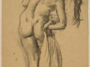 """Эдгар Дега (Edgar Degas), """"Обнаженная после бани"""" (Drawings)"""