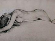 "Эдгар Дега (Edgar Degas), ""Фигура лежащей обнаженной"" (Drawings)"