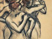 """Эдгар Дега (Edgar Degas), """"Этюд обнаженных танцовщиц"""" (Drawings)"""