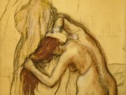 "Эдгар Дега (Edgar Degas), ""Woman Drying Herself"" (Drawings)"