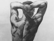 """Александр Дейнека (Aleksander Deyneka) (Рисунки) """"Рисунок для мозаики «Хорошее утро» Бумага"""""""