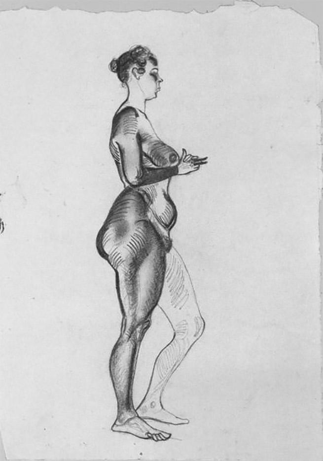 эротический рисунок женской фигуры
