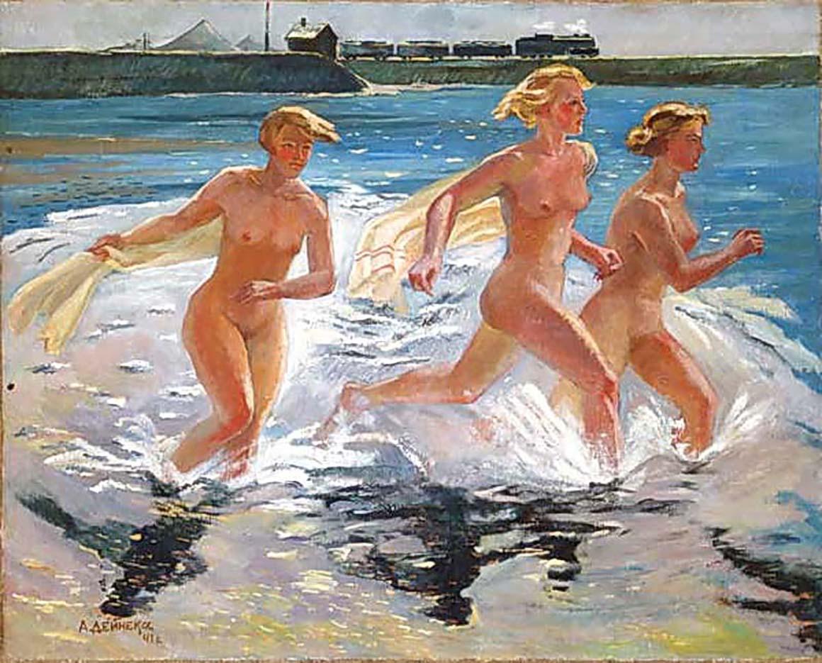 "Александр Дейнека (Aleksander Deyneka), ""Running girl"""