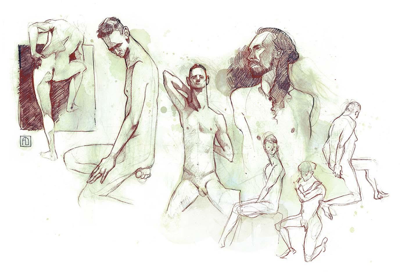 "Анна Диттманн (Anna Dittmann) ""More dude doodles"""