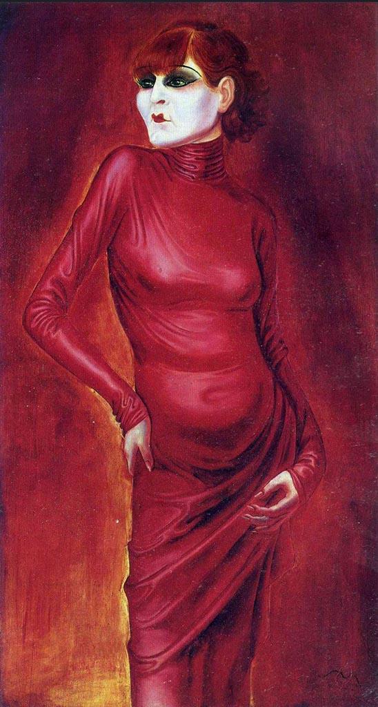 """Отто Дикс (Otto Dix) """"The Dancer Anita Berber"""""""