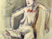 "Отто Дикс (Otto Dix) ""Prostitute - Girl with Red Bow"""