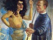 "Отто Дикс (Otto Dix) ""Self-Portrait with Muse"""