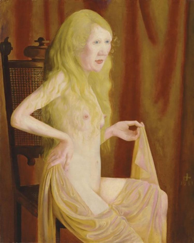 """Отто Дикс (Otto Dix) """"Sitzender Akt mit blondem Haar"""""""