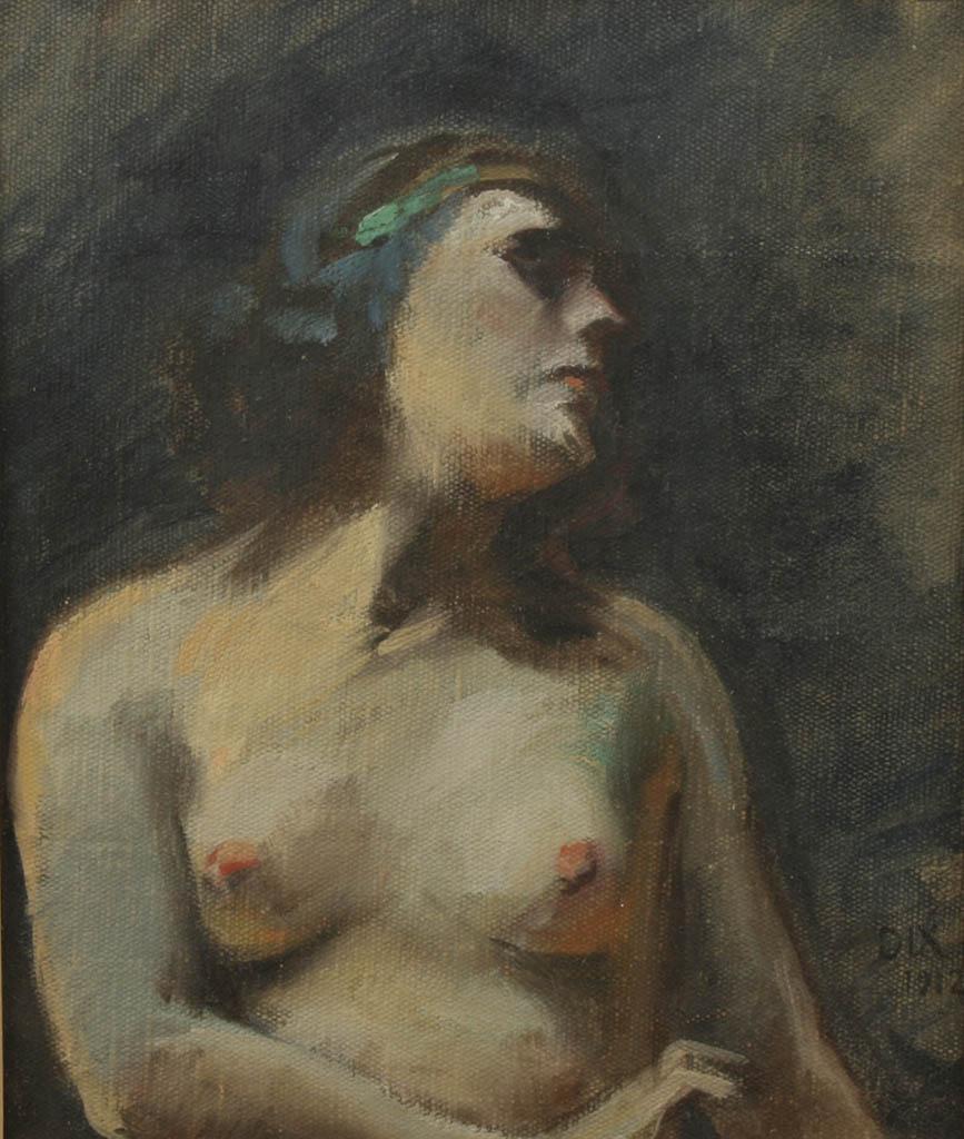 "Отто Дикс (Otto Dix) ""Study of a young woman"""