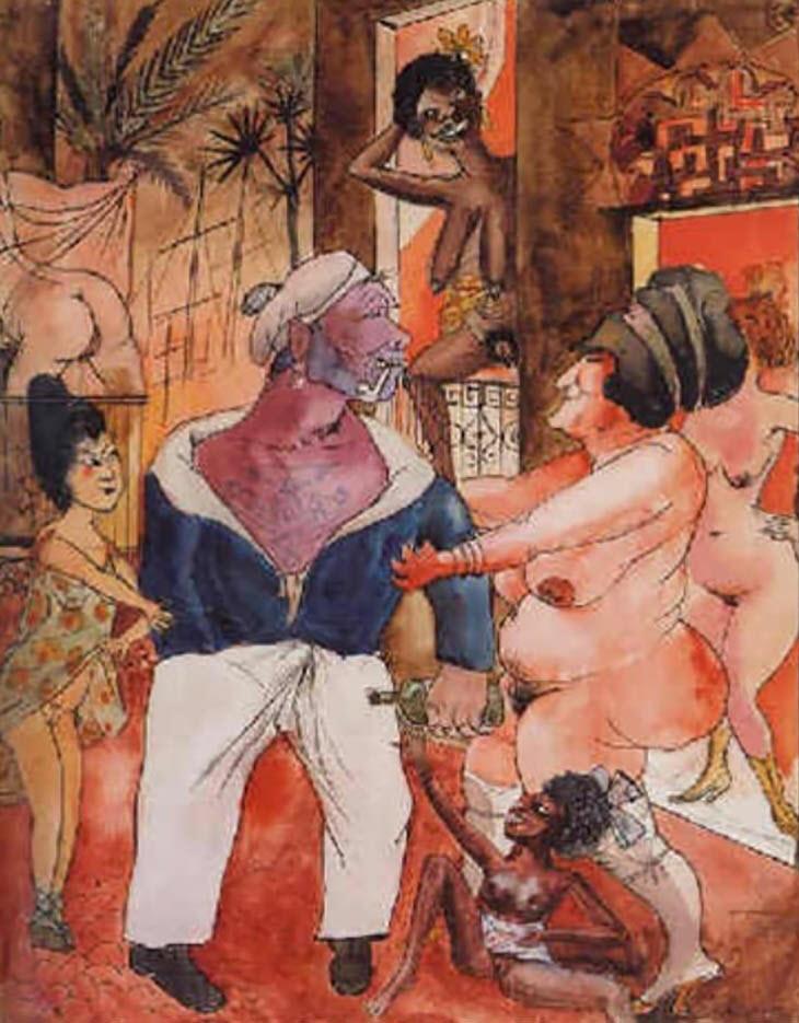 """Отто Дикс (Otto Dix) """"Exotischer Puff"""""""