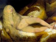 "Отто Дикс (Otto Dix) ""Nude Girl On A Fur"""