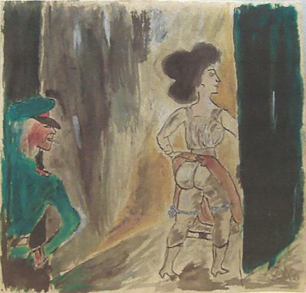 "Отто Дикс (Otto Dix) ""Untitled - 56"""