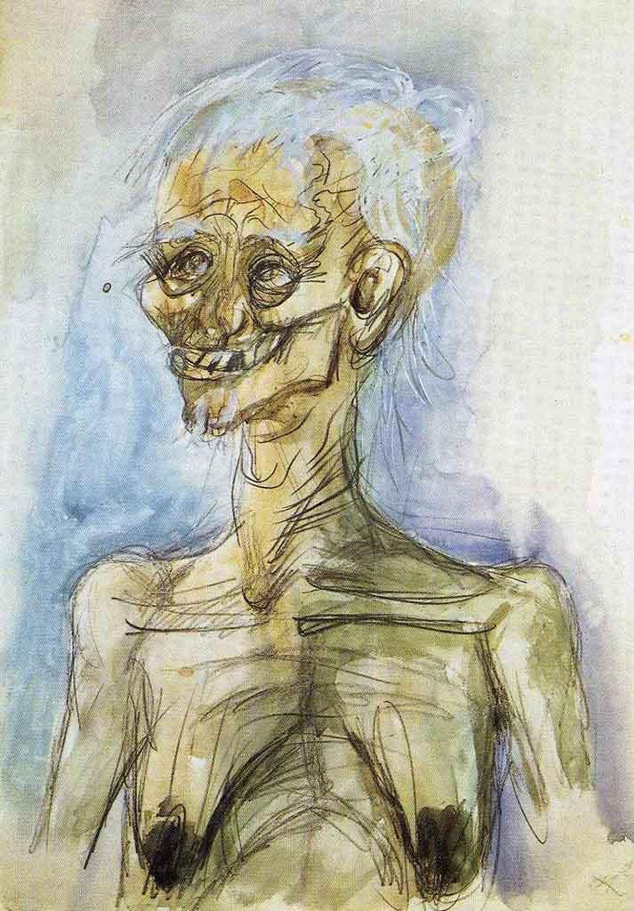 "Отто Дикс (Otto Dix) ""Old Woman"""