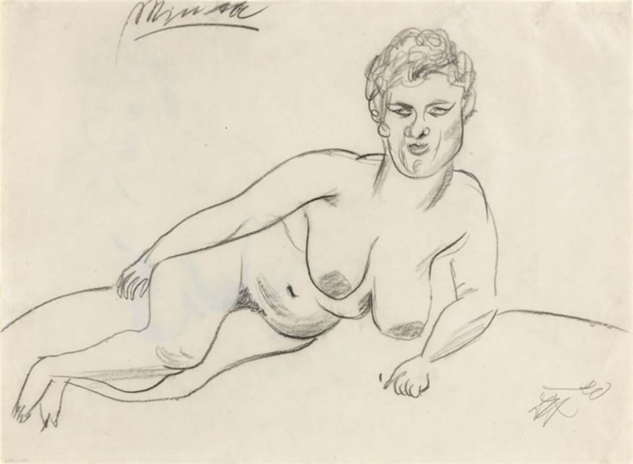 "Отто Дикс (Otto Dix) Drawing ""Minna I"""