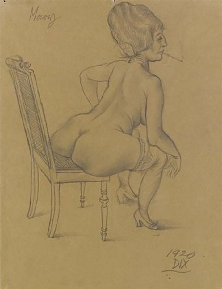 "Отто Дикс (Otto Dix) Drawing ""Mary"""