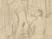 """Отто Дикс (Otto Dix) Drawing """"Study for Three Nudes"""""""