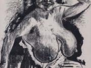 """Отто Дикс (Otto Dix) Drawing """"Halbakt - 2"""""""