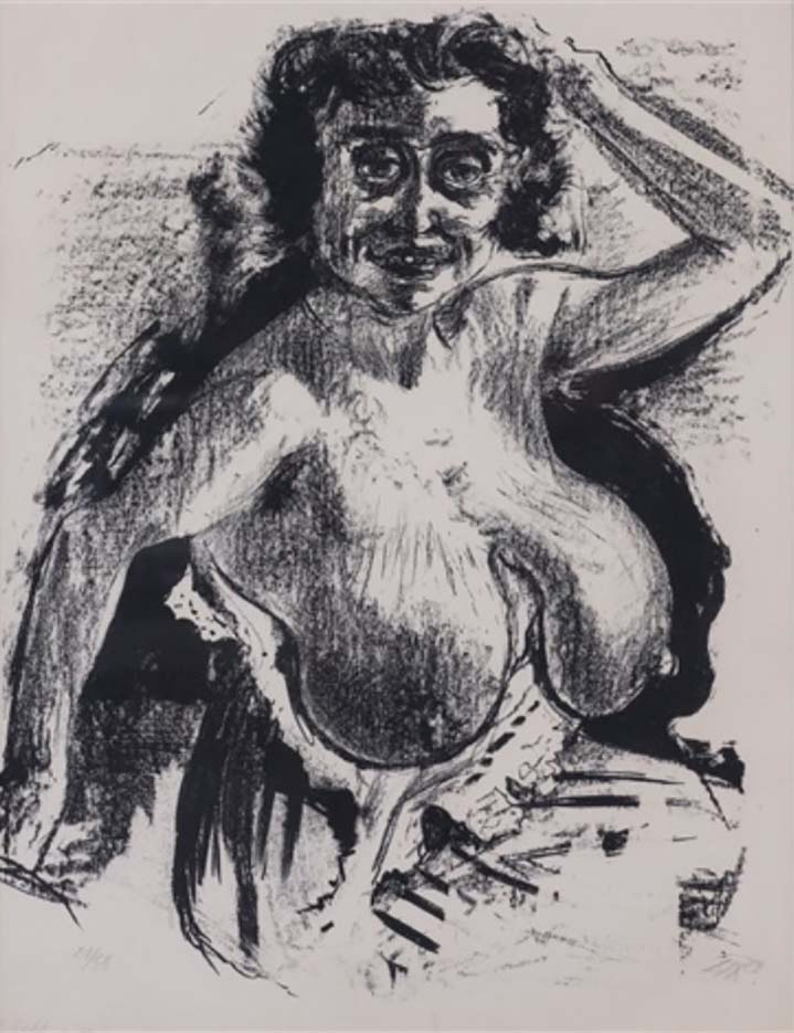 "Отто Дикс (Otto Dix) Drawing ""Halbakt - 2"""