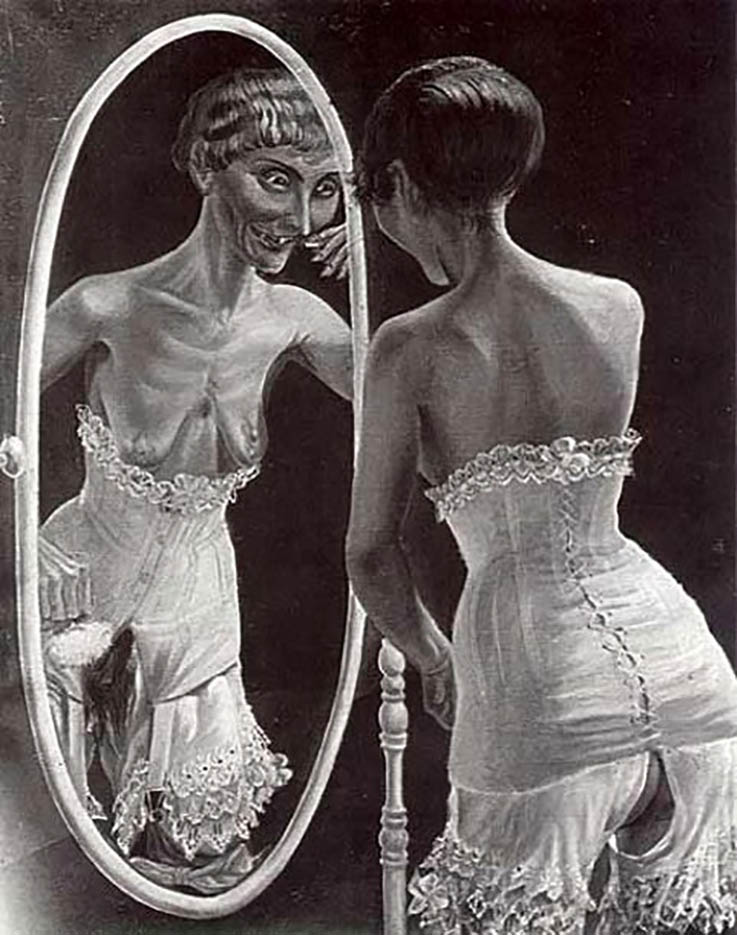 "Отто Дикс (Otto Dix) Drawing ""At The Mirror"""