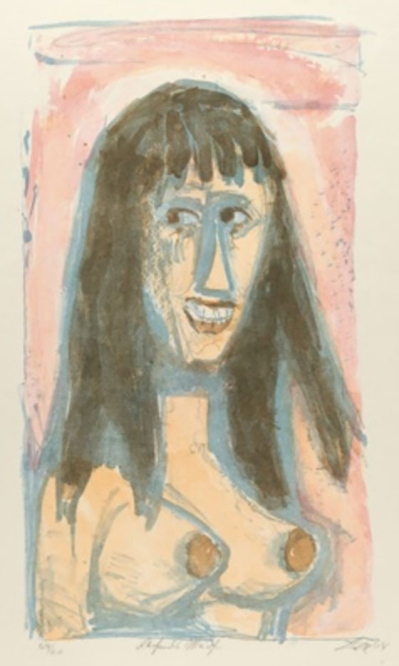 "Отто Дикс (Otto Dix) Drawing ""Laughing girl"""