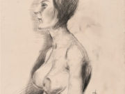 """Отто Дикс (Otto Dix) Drawing """"Female nude looking left"""""""
