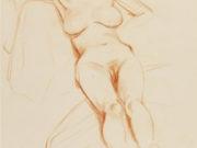 """Отто Дикс (Otto Dix) Drawing """"Liegende Frau"""""""