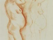"""Отто Дикс (Otto Dix) Drawing """"Schwangere Frau"""""""
