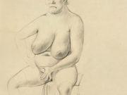"Отто Дикс (Otto Dix) Drawing ""Akt auf Stuhl"""