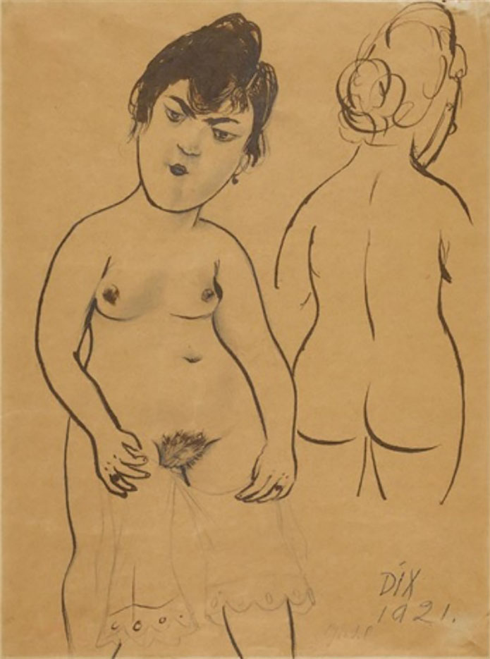 "Отто Дикс (Otto Dix) Drawing ""Gretel"""