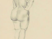 "Отто Дикс (Otto Dix) Drawing ""Rückenakt"""