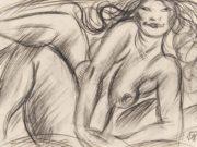 "Отто Дикс (Otto Dix) Drawing ""Ruhende"""