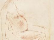 "Отто Дикс (Otto Dix) Drawing ""Pregnant women sitting"""