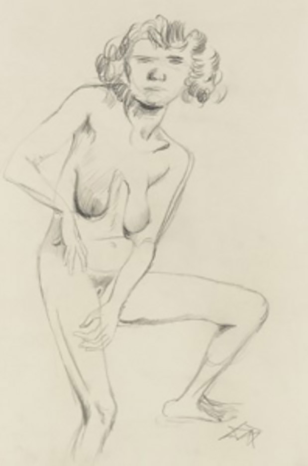 "Отто Дикс (Otto Dix) Drawing ""Erna"""