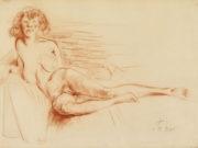 "Отто Дикс (Otto Dix) Drawing ""Erna II liegend"""