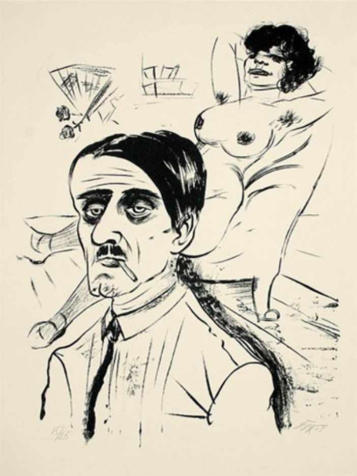 "Отто Дикс (Otto Dix) Drawing ""Louis und Vohse"""