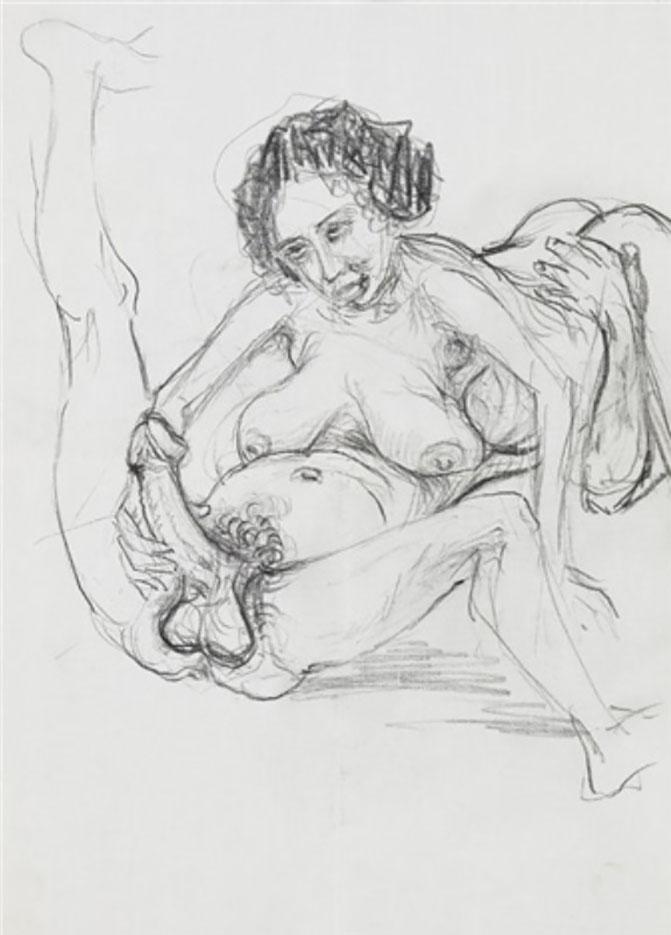 """Отто Дикс (Otto Dix) Drawing """"Erotische Szene"""""""