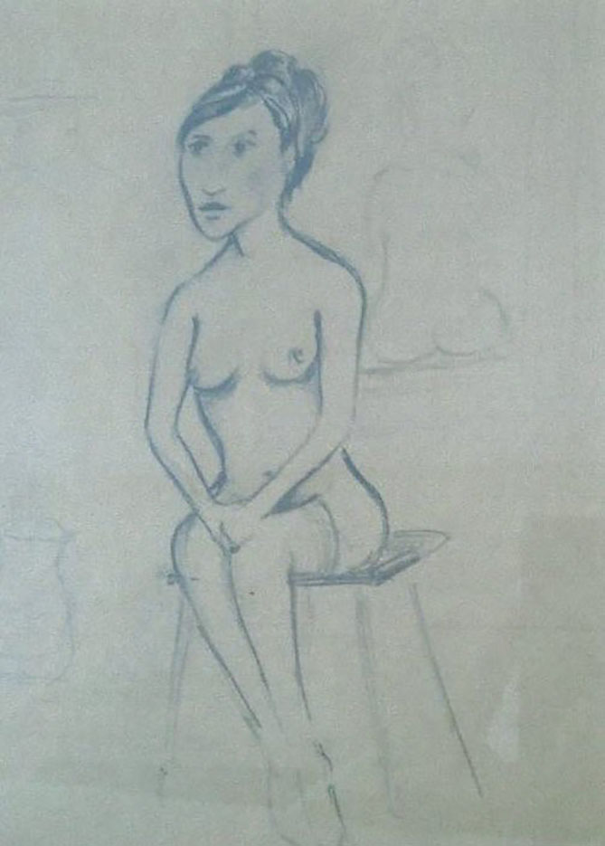 "Отто Дикс (Otto Dix) Drawing ""Untitled - 43"""
