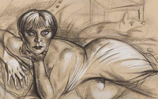 "Отто Дикс (Otto Dix) Drawing ""Untitled - 44"""