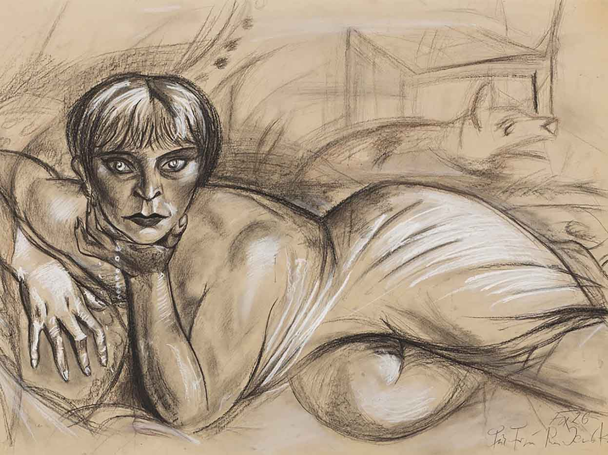 "Отто Дикс (Otto Dix) Drawing ""Untitled - 44"""