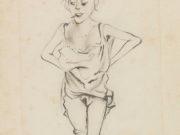 "Отто Дикс (Otto Dix) Drawing ""Untitled - 45"""