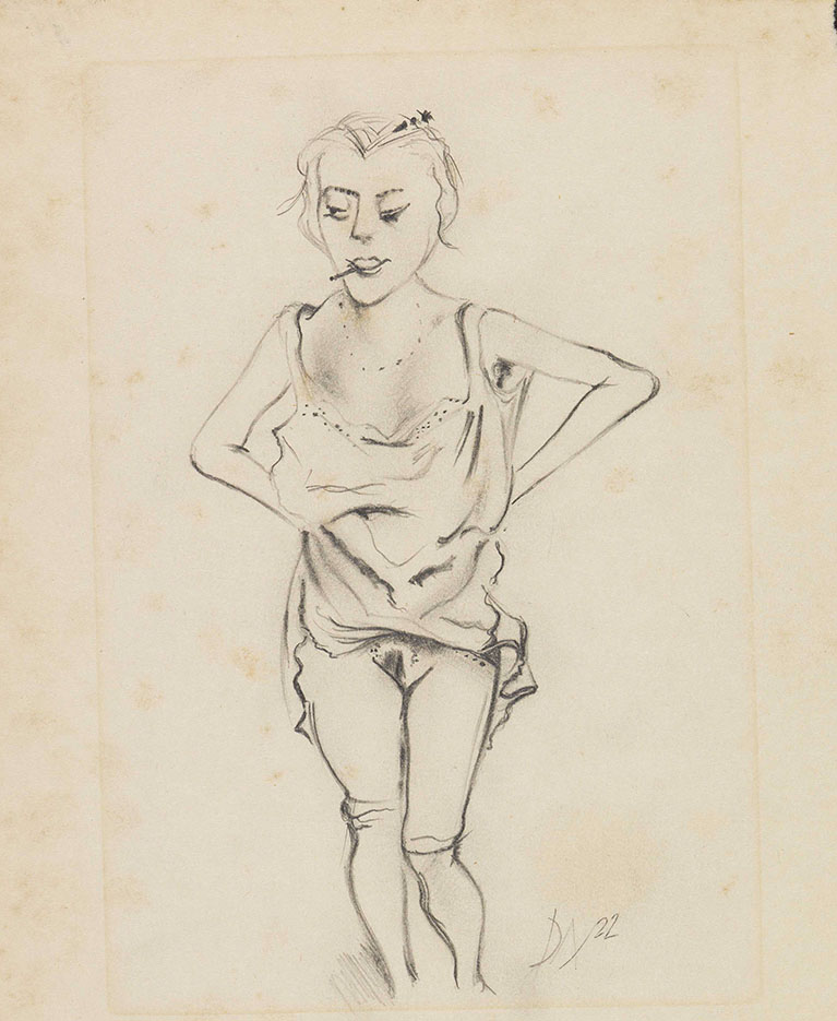"Отто Дикс (Otto Dix) Drawing ""Untitled - 45"""