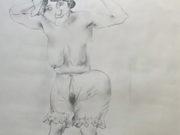 "Отто Дикс (Otto Dix) Drawing ""Untitled - 47"""