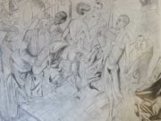 "Отто Дикс (Otto Dix) Drawing ""Untitled - 48"""