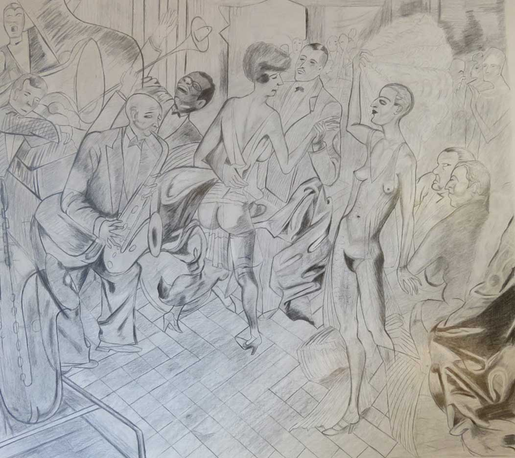 "Отто Дикс (Otto Dix) Drawing ""Untitled - 48"""