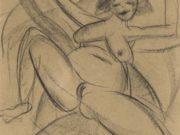 "Отто Дикс (Otto Dix) Drawing ""Erwartung I"""